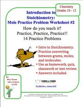 Mole Practice Worksheet  Stoichiometry  Mole Worksheets And