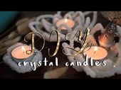 DIY CRYSTAL CANDLE HOLDERS! // Boho Room…