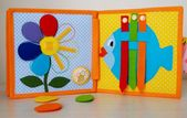 Quiet book, busy book, Easter themed felt book, Montessori educational toys for toddlers and babies, gift for kids (1-3 years old)