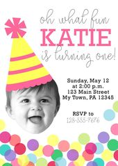 Planning your babys first birthday? This is a perfect fun invitation! Get a one-… – Toddler s bhirthday party ❤️