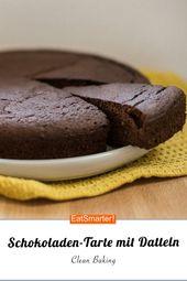Clean Baking: Schokoladen-Tarte mit Datteln