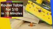 So erstellen Sie eine Router-Tabelle für die Holzbearbeitung für weniger als 10 Euro in 10 Minuten