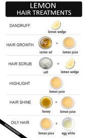 Beste natürliche Zitronenhaar-Behandlungen für jedes Haarproblem #behandlunge …  – hair care