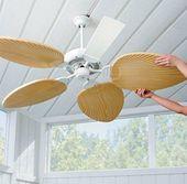 Palm Leaf Ceiling Fan Blades-Set of 5   – Home Remodeling