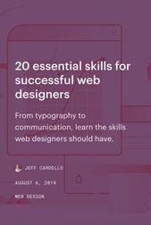 20 Essential Skills For Successful Web Designers With Images Web Design Web Designer Skills Learning Graphic Design