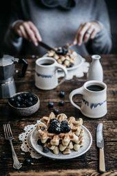 Vanillebohnen Buttermilch Waffeln | Die Macadames