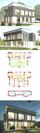 Stadtvilla Concept-M 188 Wuppertal Bien Zenker – Bauen eines Hauses mit Pultdach …   – Wandgestaltung