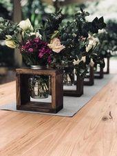 Rustikale Vasenaufsätze aus Holz, Dekor auf der Hochzeitsinsel, Partydekorationen oder …  – Spitzen Hochzeiten