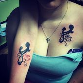 90+ Cute Matching Mother Daughter Tattoo – Designs & Meanings (2018) #pres … Check more…