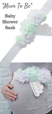 Give the mum-to-be this beautiful baby shower sash to wear at her ...
