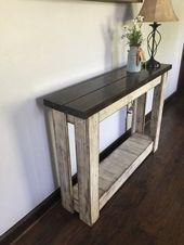 Entryway Table, Farmhouse Table, Hallway Table, Sofa Table   – Furniture