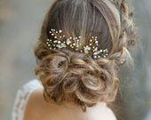 Bridal hair pins Wedding hair pins Silver bridal leaf hair pins Silver leaf headpiece Leaves wedding hair accessories Sprig pins