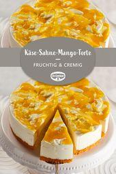 Cream cheese and mango pie  – Zauberhafte Torten-Rezepte