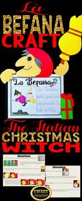 La Befana the Italian Christmas Witch Craft and Writing Activity  – Best of Christmas, Hanukkah, Kwanzaa & More! – Kindergarten & First Grade