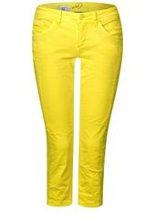 STREET ONE Casual-Fit Jeans 'Crissi' Damen, Gelb, Größe 48/32