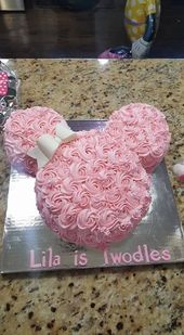 OMG!!! Disney rosette cake! I love this so much. If we have a baby girl, she wil… –  #Baby … – Babyshower Pink Cake Ideen