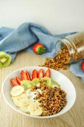 Low Carb Crunchy Muesli – Gesundes Low Carb Frühstück ohne Zucker   – gesund essen