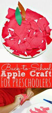 Zurück in die Schule Apple Craft für Kinder im Vorschulalter #apple #craft #ki