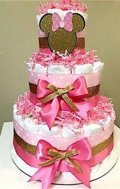 19 neue Ideen Kuchen Pink und Gold Baby Shower Minnie Mouse   – Cake!