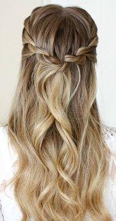 Wunderschöne Hochzeitsfrisur & Brautjungfernfrisuren   – Frisuren langhaar