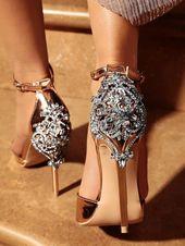 Glittering Embellished Excessive Heeled Sandals (US4.5/US5.5/US6/US7/US8/US8.5/US9.5/…