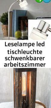 Leselampe Led Tischleuchte Schwenkbarer Arbeitszimmer Strahler Lxbxh 31x12x48 Cm Be In 2020 Led Tischleuchte Led Lampe