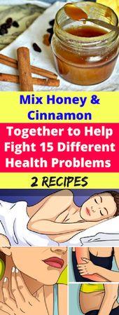 Mescola miele e cannella insieme per aiutare a combattere 15 diversi problemi di salute !!!! (Tw …