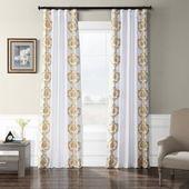 Exclusive Fabrics Embroidered Faux Silk Taffeta Curtain Panel (50 x 120 – Anastasia Sterling)