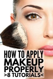 eight tutorials to show you the way to apply make-up like a professional