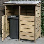 14 Ideen, um Müllcontainer in Ihrem Garten zu verstecken – #container …   – jardin