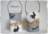 White & Pâques : paniers avec des boîtes de preserve – Picture de pâques – Les p'tites décos de Lolo