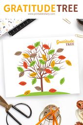 Gratitude Tree – Thanksgiving Activity for Kids  – Thanksgiving