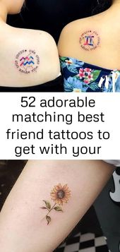 52 adorable matching best friend tattoos to get with your ride-or-die 16
