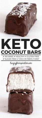 Diese gesunden No-Bake-Keto-Kokosriegel sind ein perfekter Keto-Snack oder …