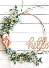 DIY Spring Hula Hoop Wreath