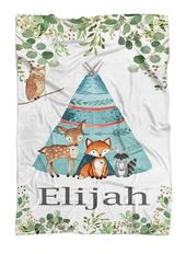 Forest Animal Baby Blanket Personalized Baby Blanket Boy | Etsy   – new new nursery ideas