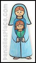 Paper Mary Dolls Catechism Catholic Crafts