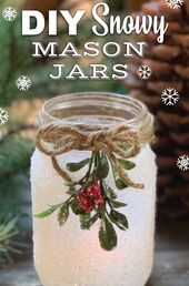 DIY Snowy Mason Jar Luminaries (Fun & Easy Christmas Craft Idea!) – XMAS
