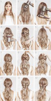 5 minutes tutorial: Elegant hairstyle #elegante #style #minute #tutorial #diyfr …, #diyfr …
