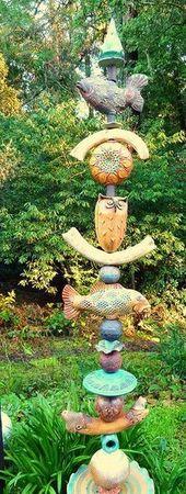Abendländische Keramik und Holz – GARTEN – Port Skulptur – #Ab … – Ke …   – Keramische Kunst