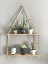 25 + Diy Hanging shelves for easy storage and beautiful decor ideas