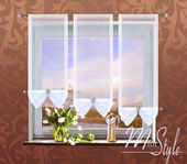 Details about Voile Net Curtain Panel White Slot Top Tie Blind Fly Screen – bedroom