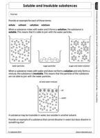 Soluble and insoluble substances (Gr6-T2) | Matter and materials | Pinterest | Worksheets