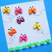 Kidissimo: Facile : fabriquer un tableau de papillons voletants avec des pâtes,…