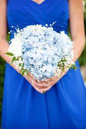 blaue Hortensie Hochzeitssträuße – Google-Suche   – Wedding