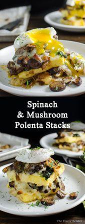 Polenta aux épinards et aux champignons – une délicieuse recette végétarienne qui …