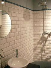Badezimmer mit Metro-Fliesen …   Pinterest