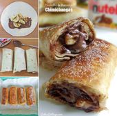 Nutella und Banana Chimichangas   – Baking