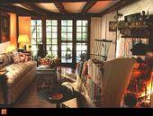 Ich liebe dieses gemütliche Zimmer – Die Saltbox mit vier Schlafzimmern stammt aus dem frühen …   – Rooms I like