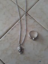 Cadena de plata y anillo de plata para hombre en buen estado a la venta en …   – Anillos Ideas